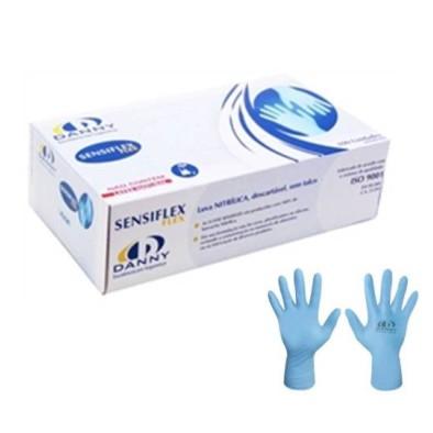 LUVA NITRILICA SENSIFLEX S/AMIDO AZUL TAM. P,M,G,XG - DANNY